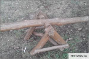 Деревянные детские качели своими руками: фото-2