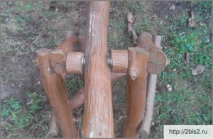 Деревянные детские качели своими руками: фото-3