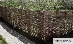 Плетёный забор своими руками: фото-2