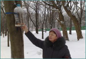 Кормушка для птиц своими руками из пластиковой бутылки, фото-5