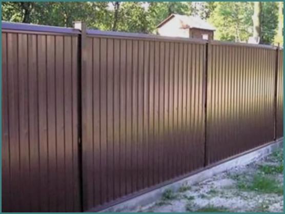 Из какого профлиста лучше делать забор на даче