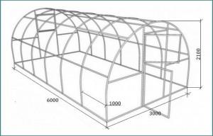 Размеры теплицы из поликарбоната своими руками, обзор-3
